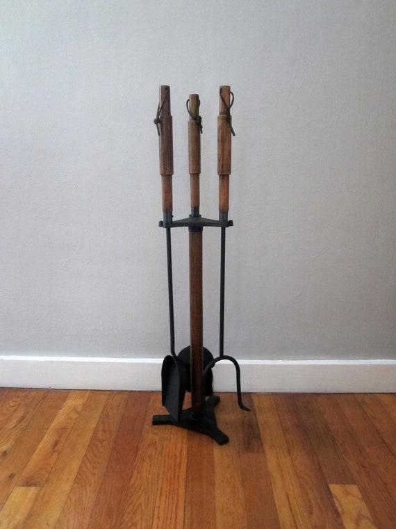 Mid Century Danish Modern Fireplace Tools