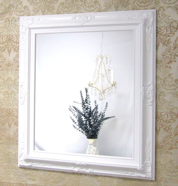 White vanity mirror for sale baroque framed white framed for White framed mirror