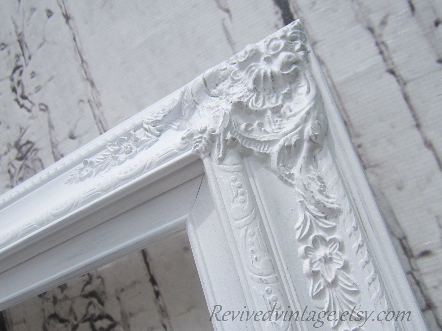 Wedding portrait frame for sale white shabby chic picture for Large portrait mirror