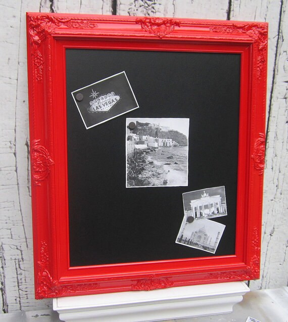 Home Decor Chalkboard: FRAMED CHALKBOARD Magnetic Red Furniture Wall Home Decor Red