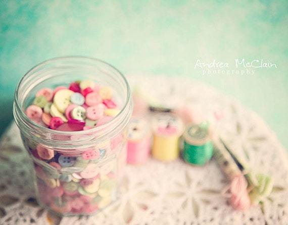 jar of buttons print