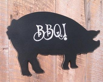 Large Chalkboard Pig