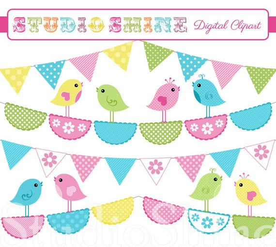 Cute Bird Clip Art Digital clipart - cute birds