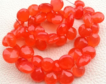 Brand New GIANT Size, Rare Fanta, 6 Inches Strand, Rare Fanta Chalcedony Faceted HEART Briolettes, 10-12mm Long size,GORGEOUS.