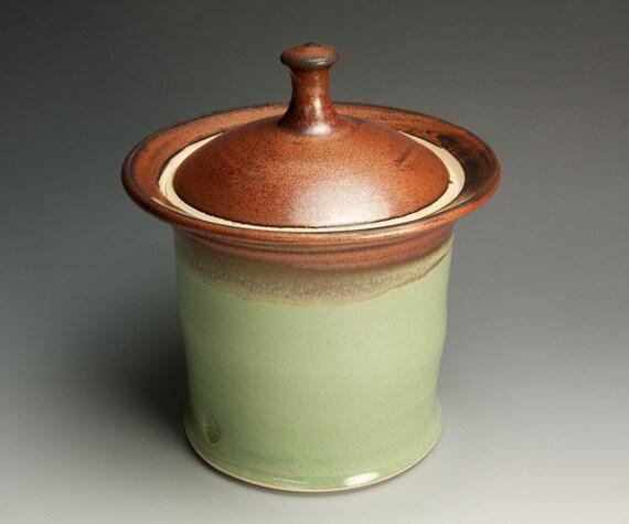 Sale - Handmade cookie or storage jar for rice, granola, etc. 608