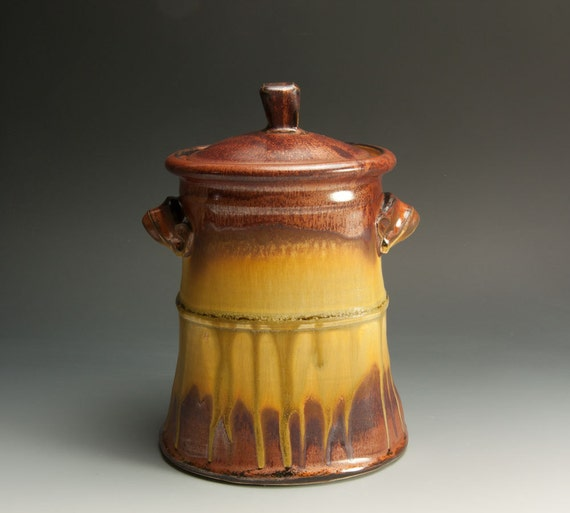 Reserved for WB - Sale - Handcrafted stoneware, cookie, rice, sugar storage jar - 649