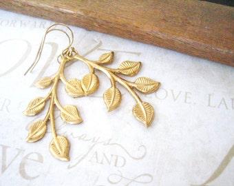 IOLA greecian branch earrings (gold)