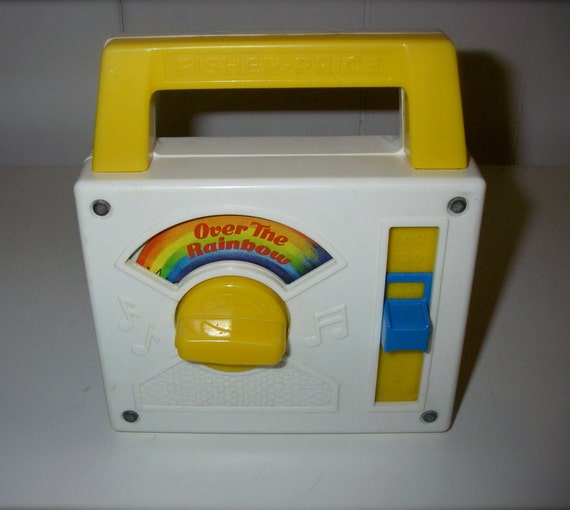 "1981 Fisher Price Radio Music Box Plays "" Over The Rainbow "" in Excellent Working Condition"