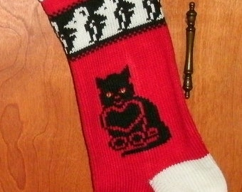 Cats are people too...PERSONALIZED Christmas Stocking