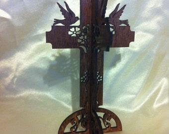 3D Standing Doves Cross