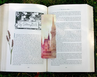 Castle, Fine Art Bookmark, Whimsical, Fairy Tale Photo, gift for reader, book lover, page marker, children, princess, once upon a time, gift