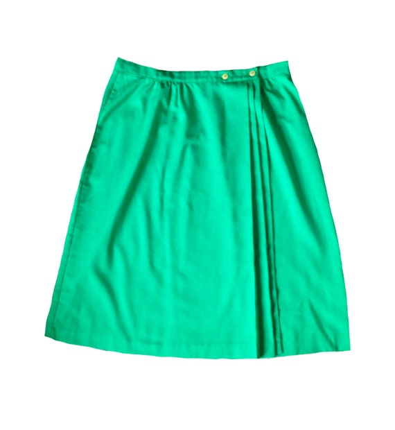 Green with Envy Wrap Skirt