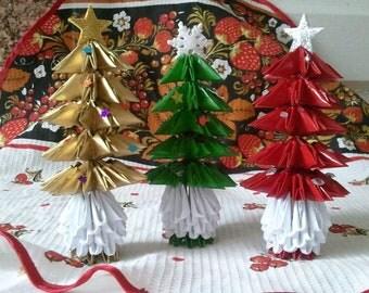 3D origami Christmas tree (small)