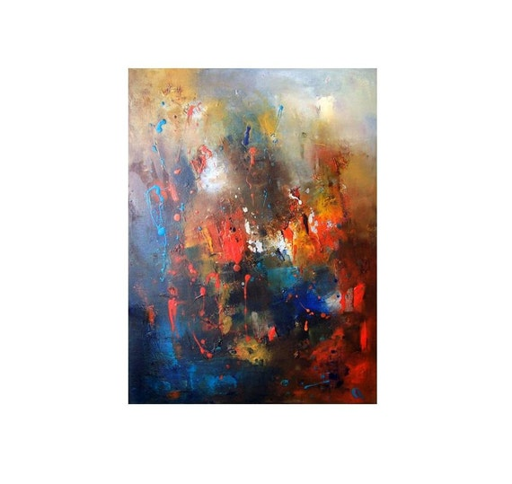 Christmas gift for dad  Abstract oil canvas