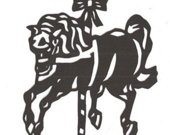carousel horse silhouette