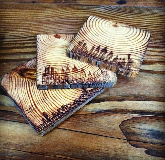 Old growth reclaimed wood new york and chicago coasters with for Reclaimed wood new york