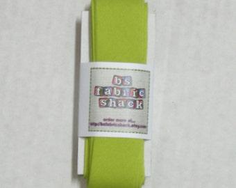 5 yards 1 1/4 inch Chartruese Quilt Binding- Moda