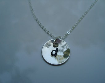 Initial Sterling Silver Stamped Necklace