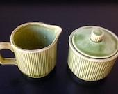 Vintage Green Nasco Sugar and Creamer Set Made in Japan