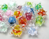 Little Twinkle pairs handmade lampwork glass beads bright colorful