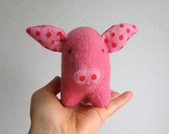 Pig, piglet, organic, pink, soft, toy, animal, baby, safe, gift, eco friendly, toddler, farm