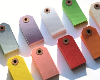 BULK SALE  Color Tags Choose Up to 5 Colors 100pcs // Gift Tags // Parcel Tags // Packaging  13pt Cardstock