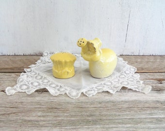 Vintage Salt & Pepper Shakers--Little Yellow Gardener