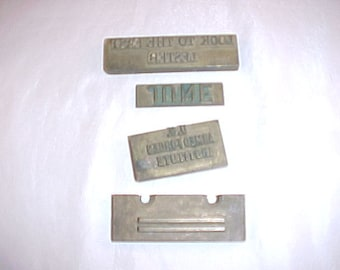 4 Brass Printers Cuts Printing Blocks