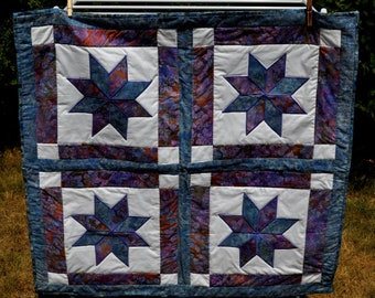 Eight pointed star large table runner table topper