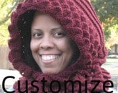 Choose the color. Crocodile Stitch Crochet Hoodie.MADE TO ORDER
