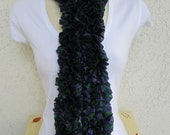 Ribbon Scarf in Grapvine (Green, Purple, Navy Blue) READY TO SHIP