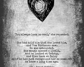 The Great Gatsby - Love Quotation Art Print - 5x7 - F Scott Fitzgerald