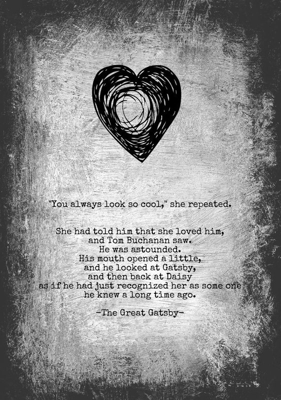 the great gatsby by f scott fitzgerald gatsbys love for daisy The problem with the great gatsby's daisy we can only infer that f scott meant his the forerunner to the great gatsby, fitzgerald elaborates on the.