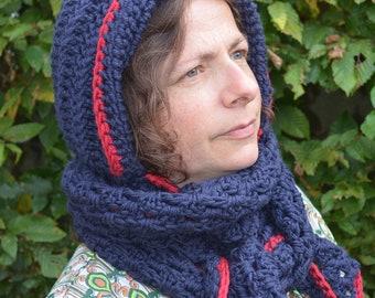 Crochet pattern : fairy hooded cowl in 2 versions