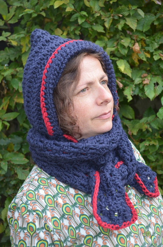 Crochet pattern : fairy hooded cowl in 2 versions