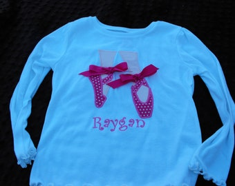 Personalized Ballet Shoe Tee
