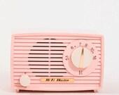 Beautiful Little Pink Vacuum Tube AM Radio