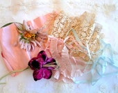 antique ribbonwork millinery flowers dolls ribbon rosette trim rococo silk