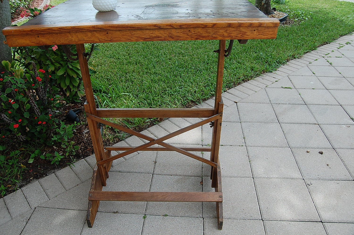 Vintage Drafting Table Antique Table At Retro By