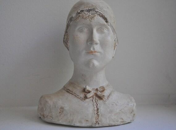 Vintage French Plaster Bust