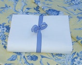 HANDKERCHIEF LINEN  Bright  White or Champagne fat quarter elegant summer sewing supplies from MyGypsyCottage on Etsy