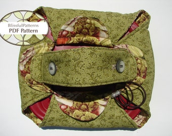 Casserole or Pie Carrier PDF Sewing Pattern - INSTANT DOWNLOAD - by BlissfulPatterns