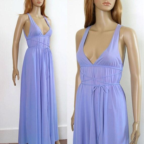 Grecian goddess lingerie long fown