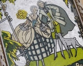 RESERVED for JOYCE... Vintage Wee Wall Hanging...Victorian Couple and their Dog