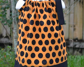 Baby Halloween dress, Orange and Black Halloween Pillowcase Dress Baby Halloween Outfit Little Girls Halloween Dress toddler Halloween dress