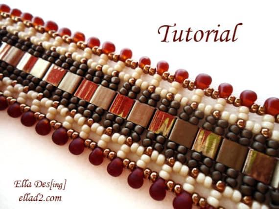 Tutorial Indian Summer Bracelet - Instant Download PDF