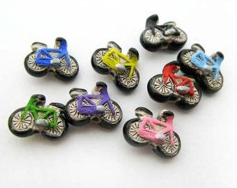 4 Tiny Bicycle Beads