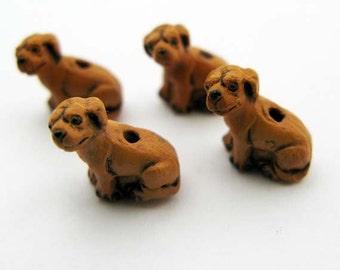 20 Tiny Gold Lab Beads