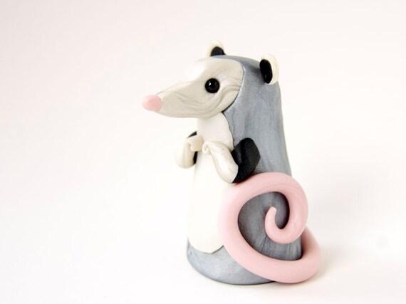 Opossum Figurine by Bonjour Poupette