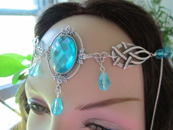 Crystal Circlet of the Ice Fairy Elven Celtic Druid LARP Bridal Renaissance